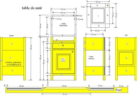 Hauteur Table De Nuit by Table De Chevet En Hauteur