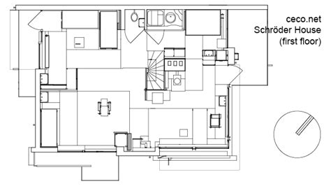schroder house floor plan schroder house in utrecht first floor block in