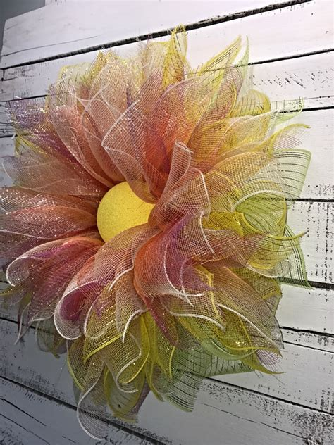 decorative mesh for doors spring wreath summer wreath everyday wreath deco mesh