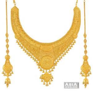 bridal gold sets gold bridal necklace set