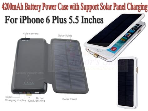 Wireless Battery Iphone 6 Plus 4200 Mah White 4200mah portable backup battery charger with support wireless solar panel charging for