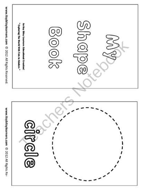 printable shapes booklet 1000 images about preschool on pinterest special