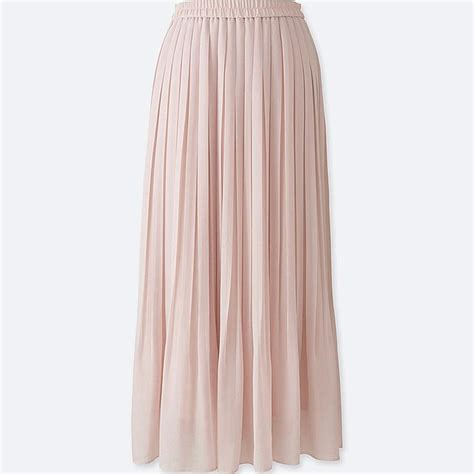Pleated Chiffon Skirt high waist chiffon pleated skirt uniqlo us