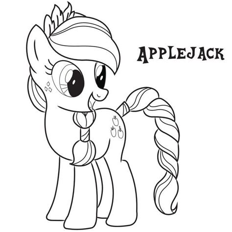 my little pony coloring pages applejack my little pony coloring page coloring home