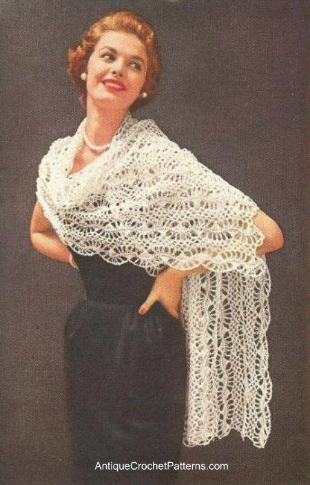 easy shawl d haja hairpin lace stole free crochet pattern by antique