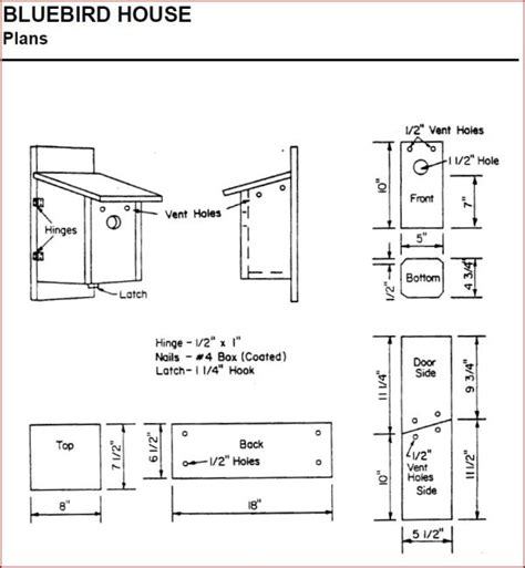 Free Home Plans Bluebird House Plans Free
