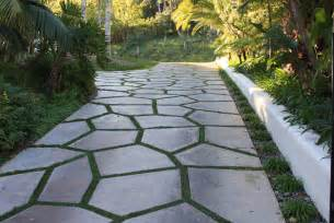 Crushed Granite Backyard Natural Stone With A Grass Divider By Sc Driveway Ideas