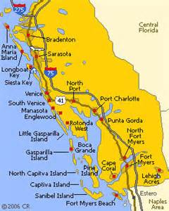 florida gulf coast map map of florida cities gulf coast deboomfotografie