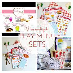 Play Kitchen Menu by 1000 Images About Pretend Play Restaurant On