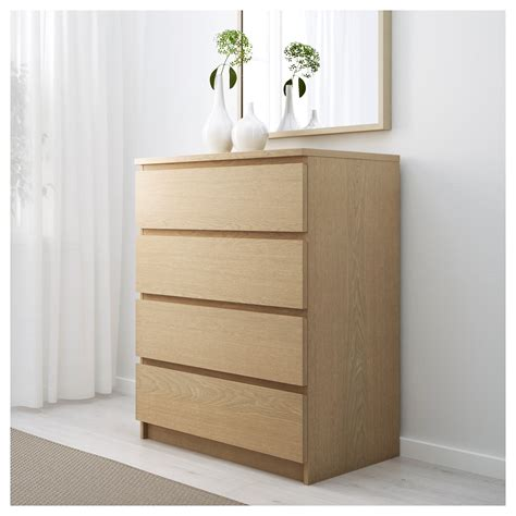 panels for ikea furniture malm chest of 4 drawers white stained oak veneer 80x100 cm