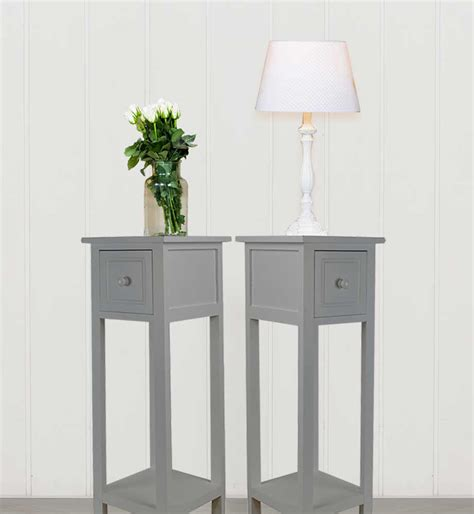 ebay bedside table ls pair of bedside tables with drawer grey two hallway slim