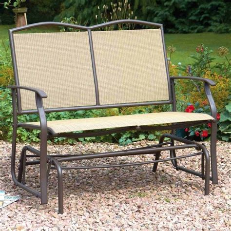 garden glider bench greenhurst two seater glider bench garden street