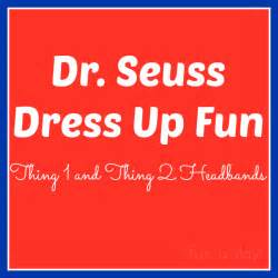 dr seuss dress up thing 1 amp thing 2