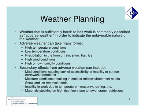 planning for adverse weather in construction projects