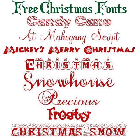 printable christmas fonts free christmas fonts printables and fonts pinterest