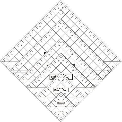 printable quilting ruler bloc loc half square triangle ruler set 1