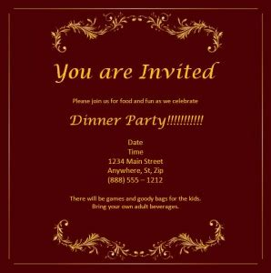free invitation templates for word best template collection