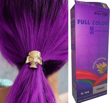 Hair COLOR Permanent Hair Cream Dye VIOLET PURPLE 0.44
