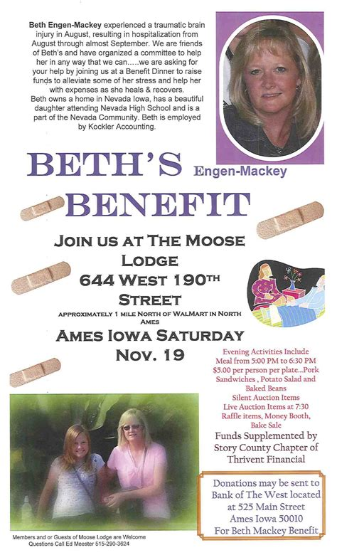 benefit flyer templates benefit flyer beth needs your help donate thank you images frompo