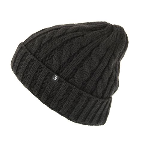 how to knit a cable beanie jaxon hats cable knit beanie hat black from hats