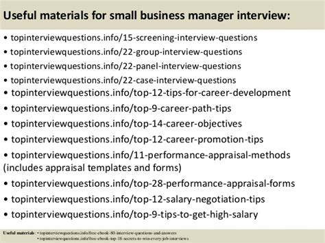 top 10 small business manager questions and answers