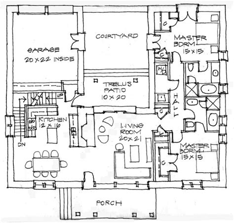 Small House Plans Mexico Adobe House Floor Plans Green Home Building