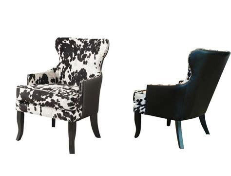cowhide upholstered chairs new cowhide faux leather upholstered accent club chair