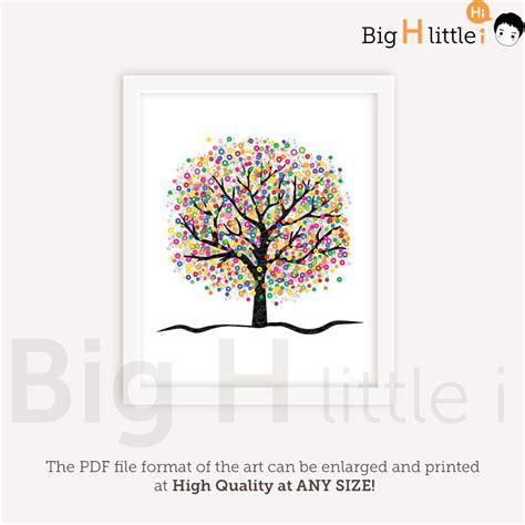 free printable tree wall art tree wall art colorful wall art nursery printable