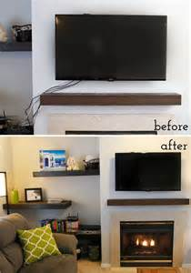 hiding tv cables fireplace how to hide tv cables