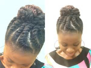jumbo flat twist updo with marley hair coilybella