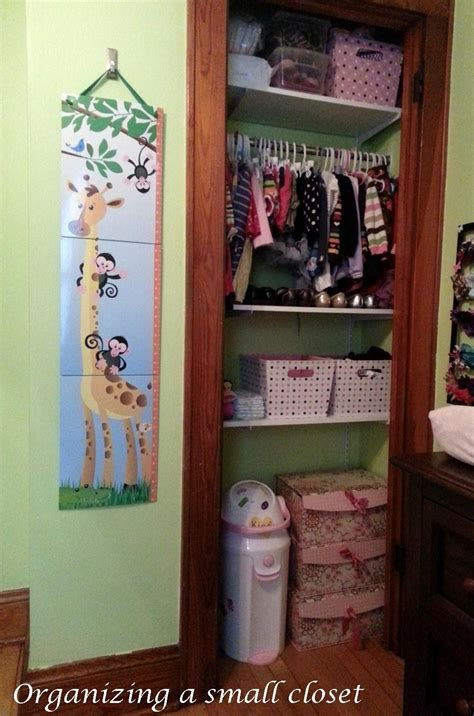 Small Baby Closet by Organizing A Small Nursery Or Room Creative Ramblings