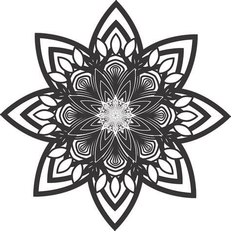 flower pattern mandala free vector graphic mandala flower pattern healing