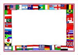 World Flag Templates by Flags Of The World A4 Page Borders Sb5827 Sparklebox