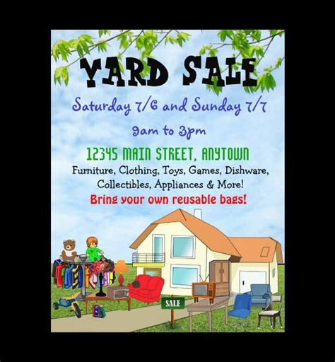 free yard sale flyer template free printable flyer designs the best letter sle
