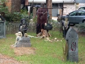 realistic yard decorations that will scare your - Yard Haunt Decorating Ideas