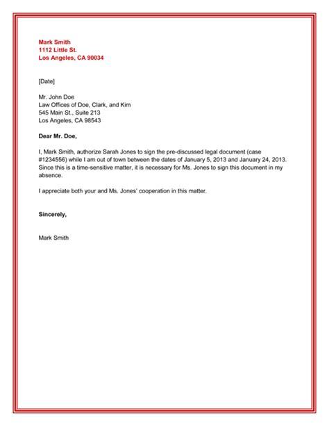 Authorization Letter Format   Letter Format 2017