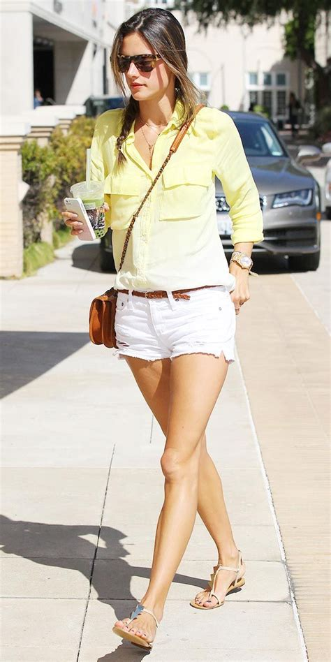 celebrity casual style summer alessandra ambrosio casual chic style celebrity fashion