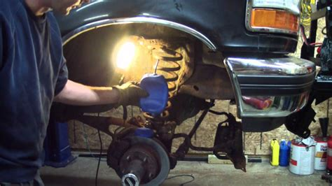 coil spring type air bag install   snow plow truck