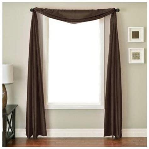 Brown Scarf Valance spotlight curtains curtain shopping yard