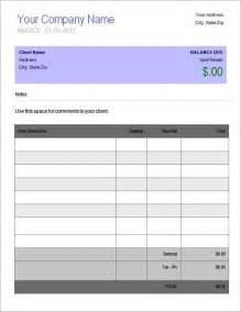 ms custom invoice template sle invoice template for ms word templatezet