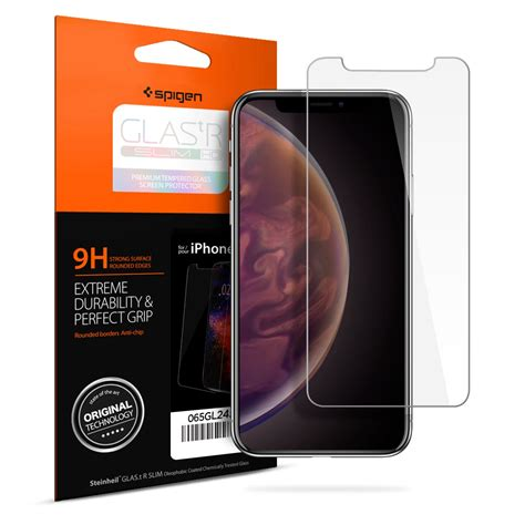 iphone xs max screen protector glas tr slim hd spigen inc