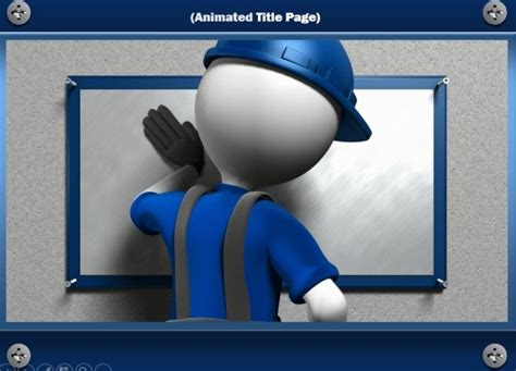 Construction Powerpoint Template With Handyman Animation Powerpoint Presentation Microsoft Powerpoint Animated Templates