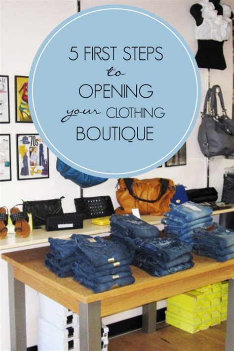 5 steps to opening your clothing boutique