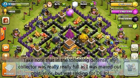 coc defense layout th8 coc 85th th8 defense epic revenge when my mines