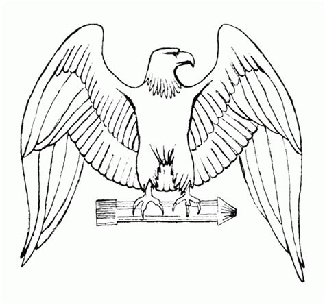 Eagle Wings Coloring Page | eagle wing tattoo coloring pages animal coloring