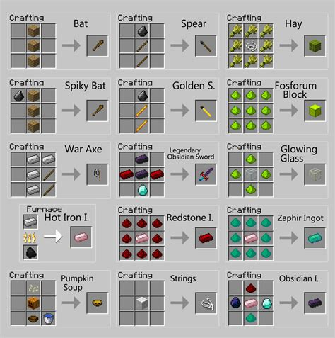 Redstone L Crafting Recipe Minecraft by 1 2 5 Redstone Zaphir And Obsidian Tools Armors