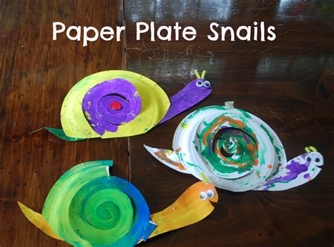 Snail Paper Plate Craft - preschool activity ideas toddler activity ideas