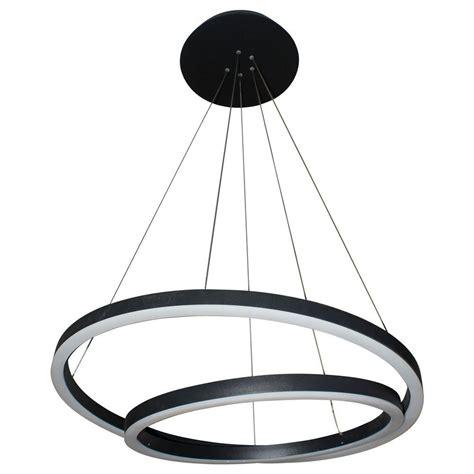 Black Modern Chandelier Vonn Lighting Tania Duo 60 Watt Black Integrated Led