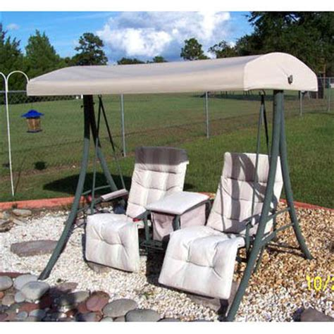 garden winds replacement canopy top for 2 person arched