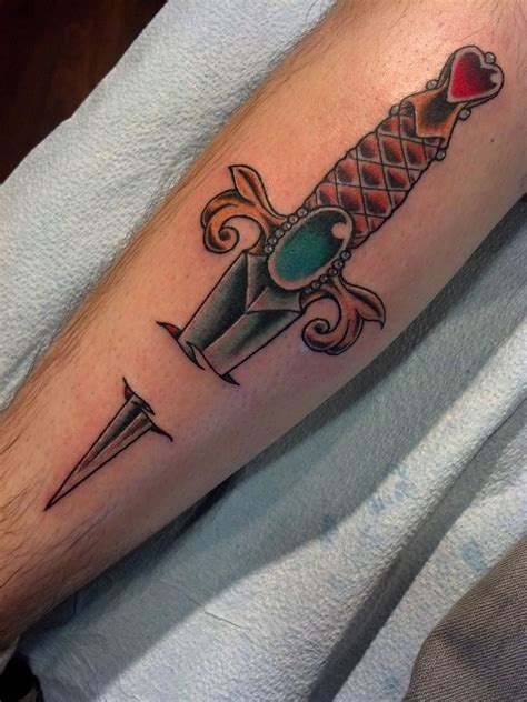 club tattoo sf nathanemery tradidional dagger by nathan emery sf dogpatch